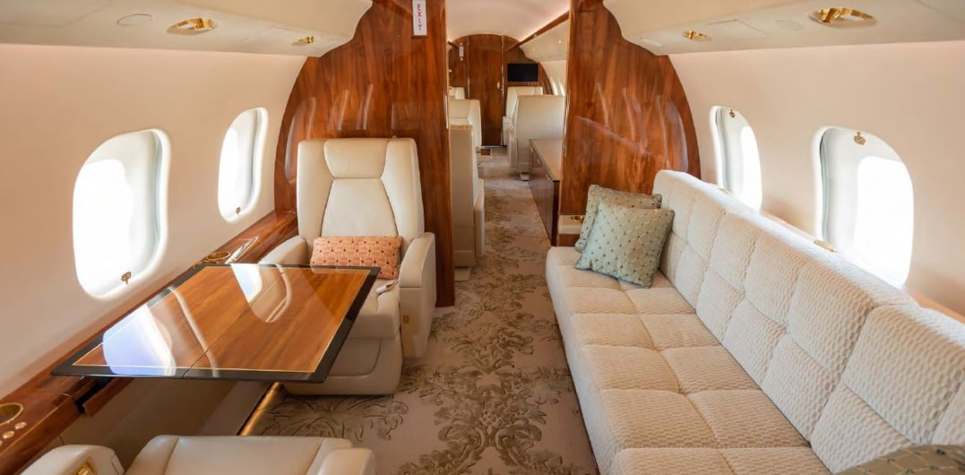 Private jet for sale charter: 2012 Bombardier Global 6000 heavy jet