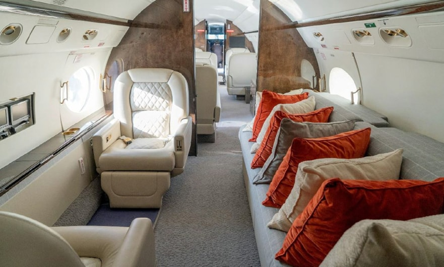 Private jet for sale charter: 2006 Gulfstream G550 heavy jet