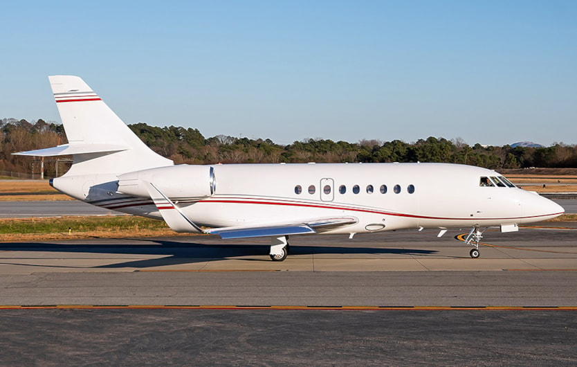 Private jets for sale charter: 2009 Dassault Falcon 2000LX heavy jet