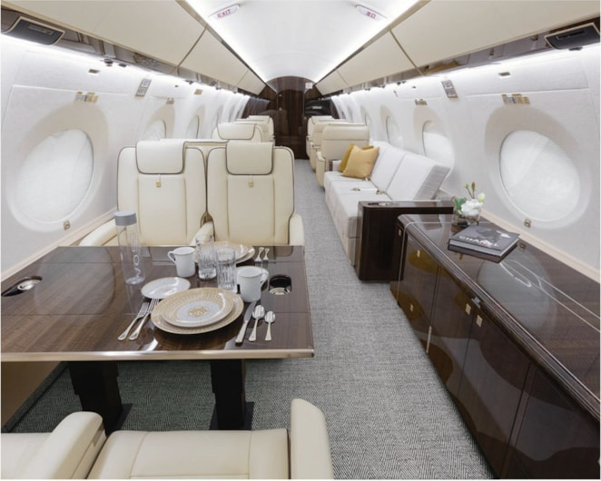 Private jet for sale charter: 2017 Gulfstream G650ER heavy jet