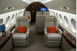 Private jet for sale charter: 2013 Falcon 2000LXS heavy jet
