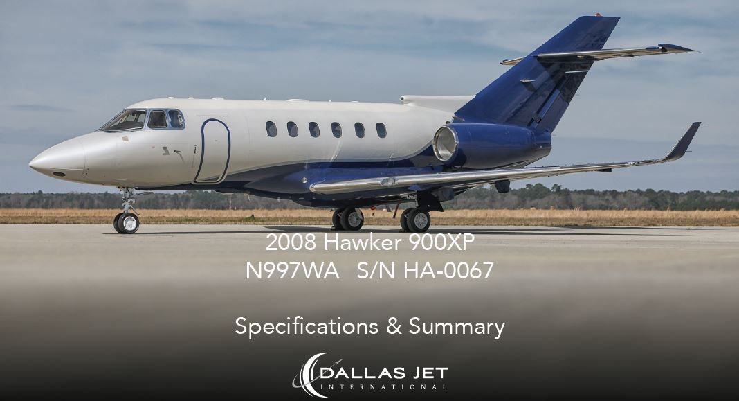 Aircraft Listing - Hawker 900XP listed for sale