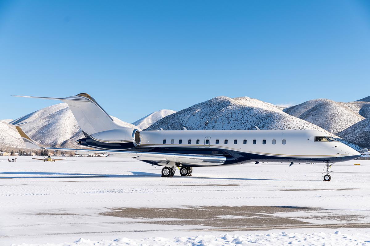 aircraft on a snowy runway