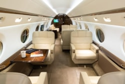 Private jet for sale charter: 2014 Gulfstream G550 long-range heavy jet