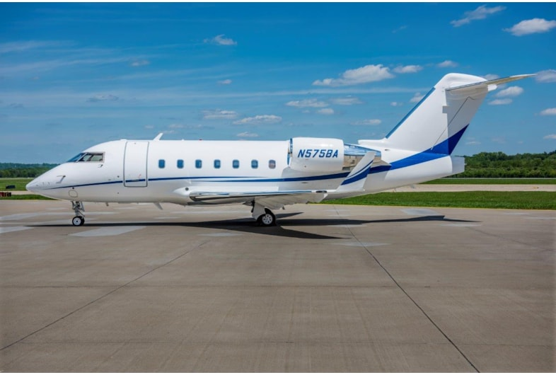 Private jet for sale charter: 2001 Challenger 604 heavy jet