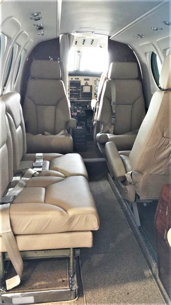 King Air C90-1 interior
