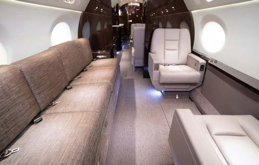 Private jet for sale charter: 2018 Gulfstream G550 heavy jet