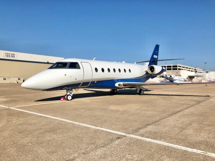 Private jet for sale charter: 2001 Gulfstream G200 super-midsize jet
