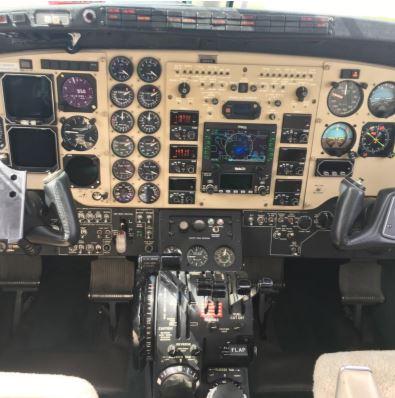 King Air C90B panel