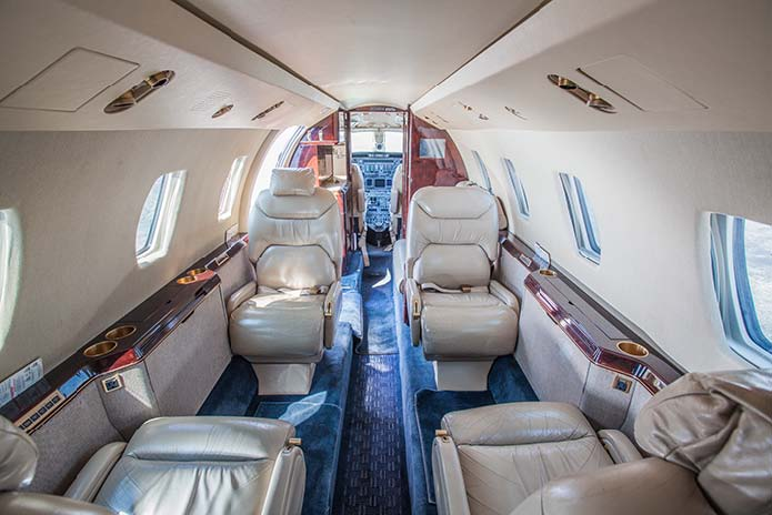 Citation VII interior