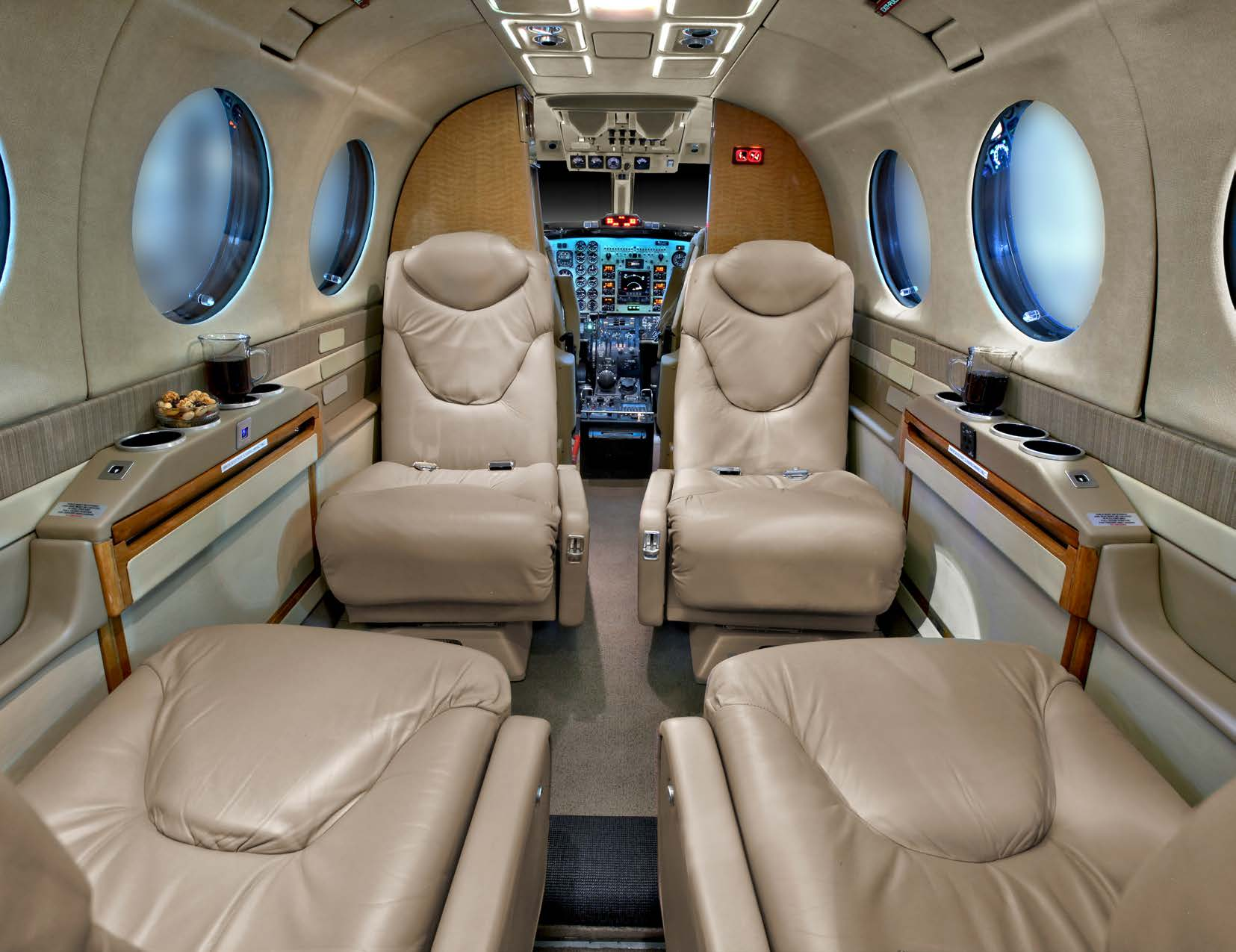 King Air 350 interior