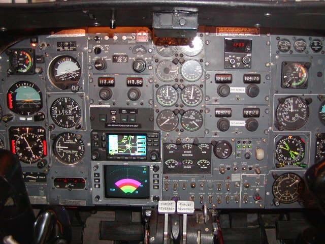 Learjet 24XR panel