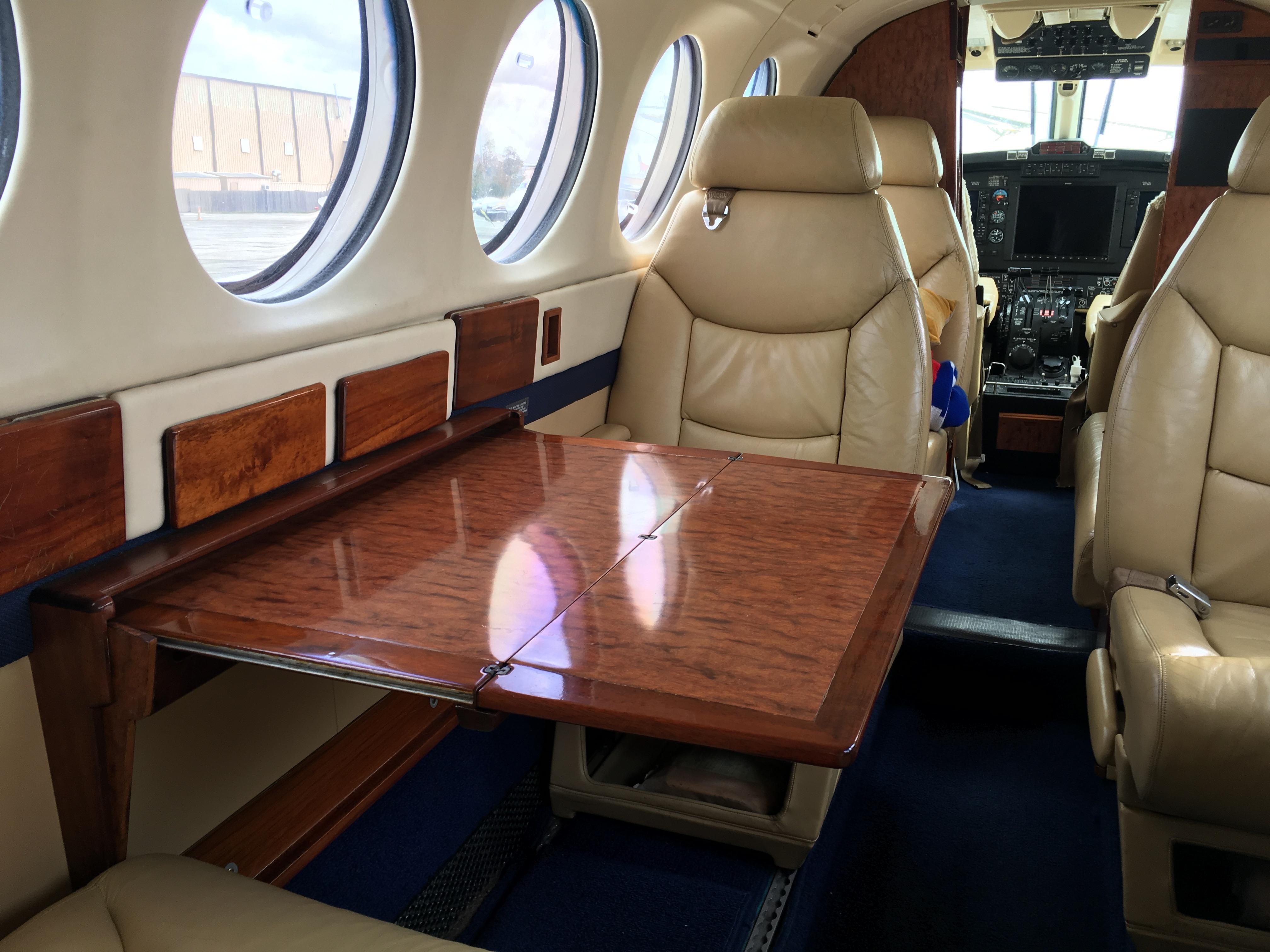 King Air 300 interior