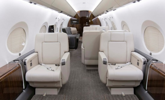 Private jet for sale charter: 2015 Gulfstream G550 heavy long range jet