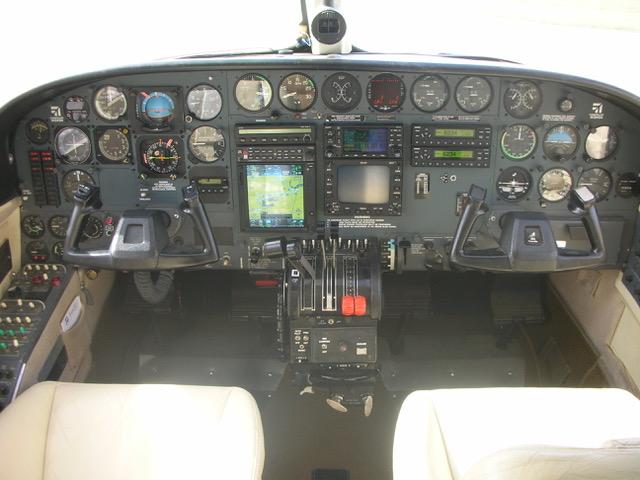 Cessna 414A panel