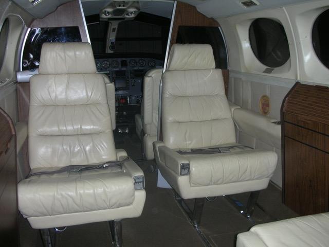 Cessna 414A interior