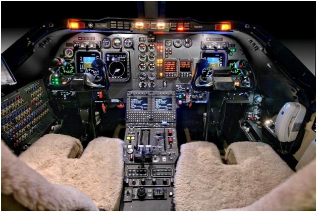 Beechjet 400A panel