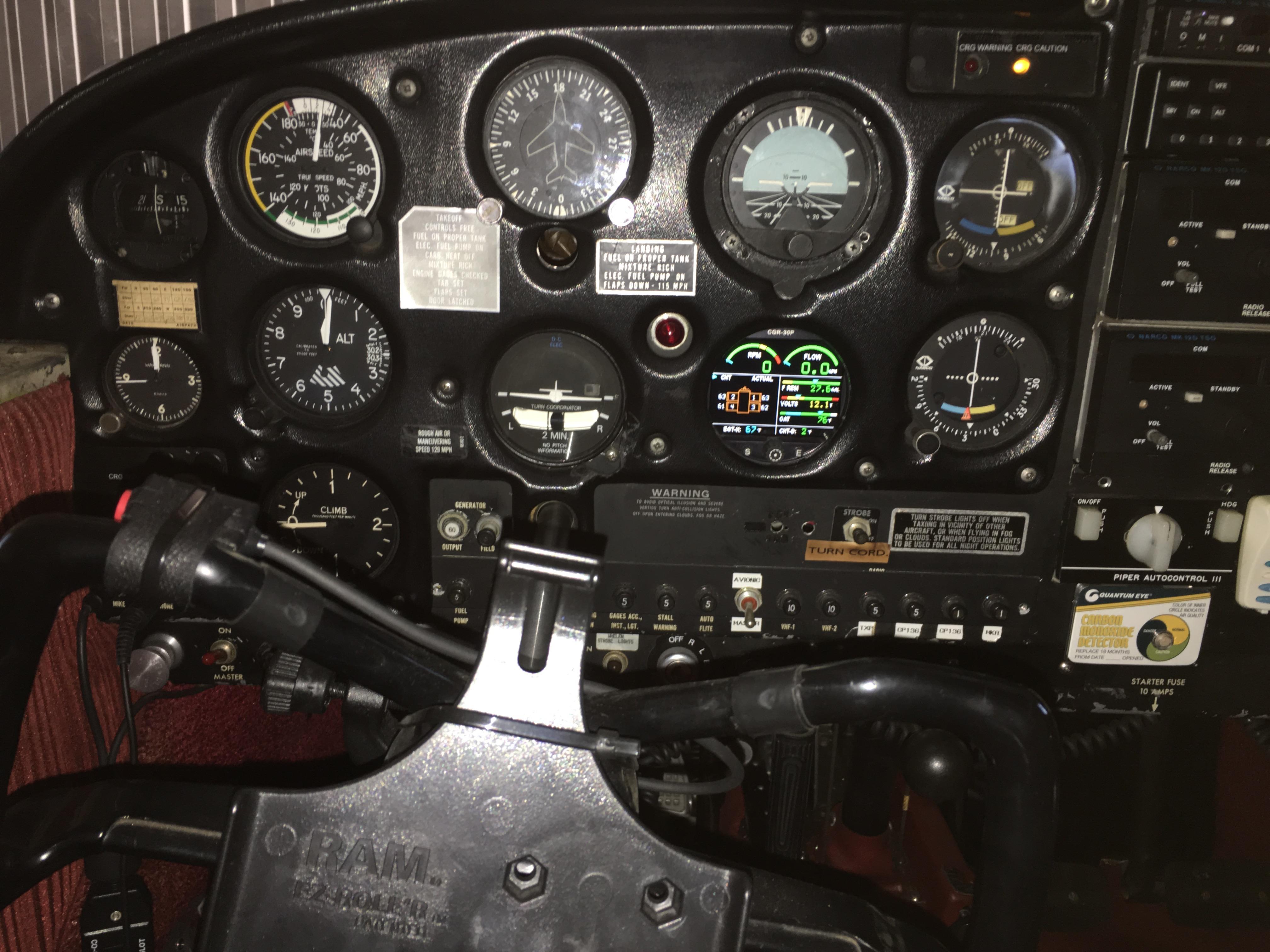 Cherokee PA-28-180C panel