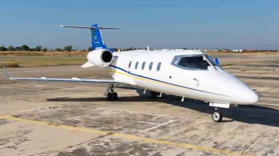 Private jet for sale charter: 1990 Learjet 55C midsize jet